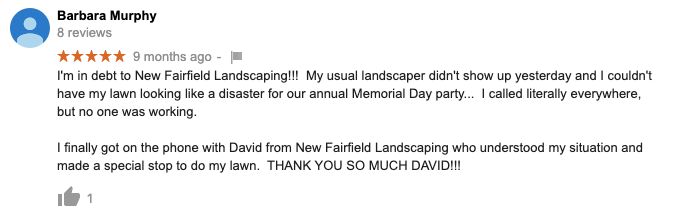 landscaping in new fairfield ct
